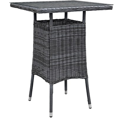 Modway Summon Outdoor Patio Bar Table; Gray (EEI-1974-GRY)