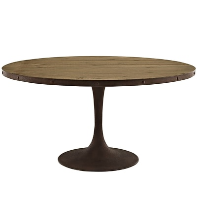 Modway 60L Wood Top Dining Table; Brown (EEI-2005-BRN-SET)