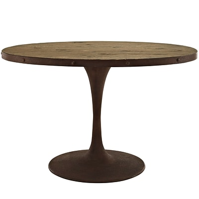 Modway 47 Wood Top Dining Table; Brown (EEI-2009-BRN-SET)