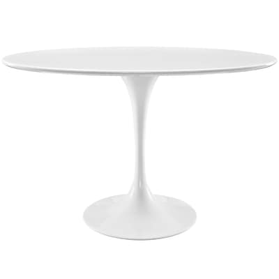 Modway 48L Wood Top Dining Table; White (EEI-2017-WHI)