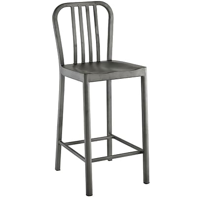 Modway Chime 19.5H Fabric Counter Stool, Silver (EEI-2040-SLV)