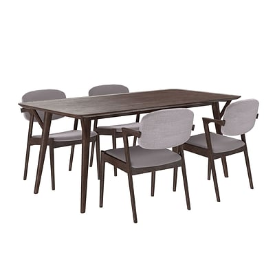 Modway 71L Wood Dining Table; Walnut Gray (EEI-2066-WAL-GRY-SET)