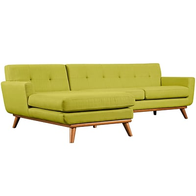 Modway Engage 43 Fabric Sectional Sofa; Wheat (EEI-2068-WHE-SET)