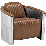 Visibility 32W Vinyl Lounge Chair; Brown