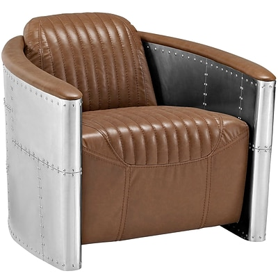 Modway Visibility 32W Vinyl Lounge Chair; Brown (EEI-2071-BRN)