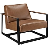 Seg Bonded Leather Reception Chair Brown 1