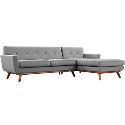 Modway Engage 103.5W Fabric Sectional Sofa; Gray (EEI-2119-SUN-SET)