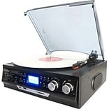 Boytone™ BT-17DJB 3-Speed Record Turntable System with AM-FM Radio; Black
