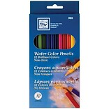 Loew-Cornell Watercolor Pencils, Assorted Colors, 12/Pack