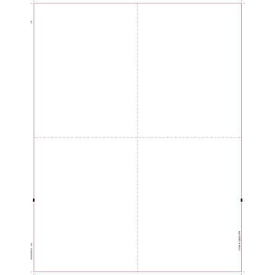 TOPS® W-2 Tax Form, 1 Part, Blank face, w/backers, White, 8 1/2 x 11, 50 Sheets/Pack