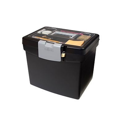 Storex Portable File Box, Letter (STX61504U01C)