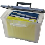 Storex Portable File Box with Organizer Lid, Letter/Legal (STX61511U01C)
