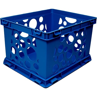 Storex Large Storage and Transport File Crate, Letter/Legal, 3/CT (STX61555U03C)