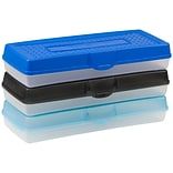 Storex Pencil Box, Assorted, 12/CT (STX61620U12C)