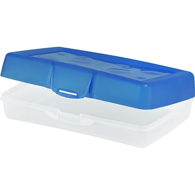 Storex Pencil Box, Assorted, 12/CT (STX61623U12C)