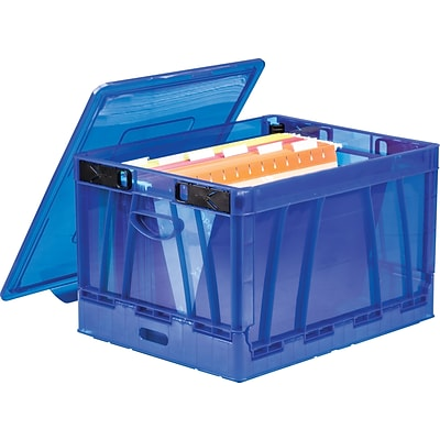 Storex Collapsible Crate, Letter/Legal, 2/CT (STX61804U02C)
