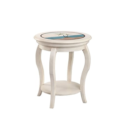 Stein World Sabel  Accent Table; Antique White (13363)