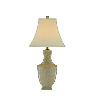 Stein World 150 Watt Honora Table Lamp; Ivory Crackle Ceramic/Nickel Hardware (37859)