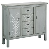Stein World Selina 36.75 Accent Cabinet; Silver Blue Grey (75768)