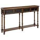 Stein World Taylor  Console Table; Black, Wood Tone (75782)