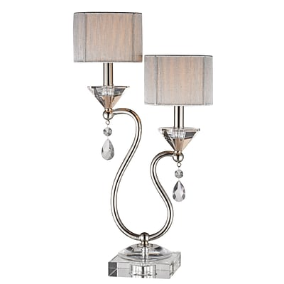 Stein World 60 Watt Krystal Table Lamp; Nickel, Crystal (96758)