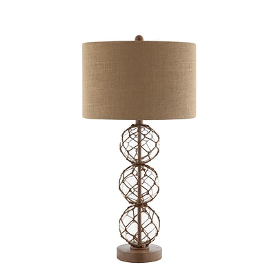 Stein World 100 Watt Breeze Table Lamp; Clear, Brown (99789)