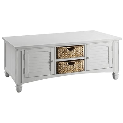 Stein World Nantucket  Cocktail Table; Cottage White (679-016)