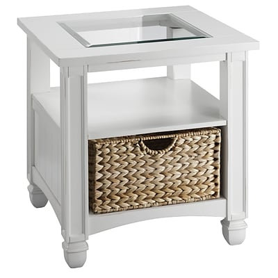 Stein World Nantucket  End Table; Cottage White (679-022)