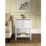 Altra Franklin Accent Table with 2 Drawers; White (5062096PCOM)