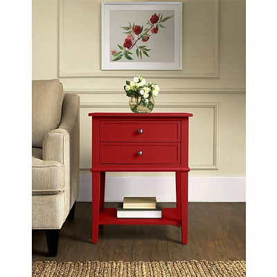 Altra Franklin Accent Table with 2 Drawers; Red (5062296PCOM)