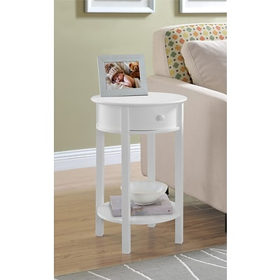 Altra Tipton Round Accent Table; White (5055096PCOM)