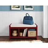 Altra Penelope Entryway Storage Bench with Cushion; Red (7522296PCOM)