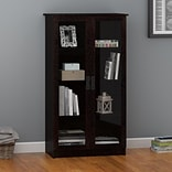 Altra Miller Glass Door Bookcase; Black Forest (348012PCOM)