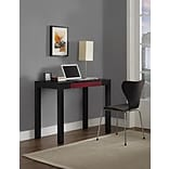 Altra Delilah Parsons Desk with Drawer; Black/Red (9178796PCOM)