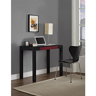 Altra Delilah Parsons Desk with Drawer, Black/Red (9178796PCOM)