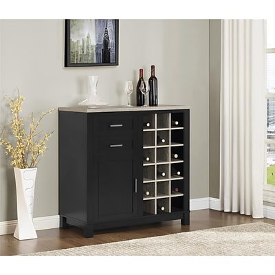 Altra Carver Bar Cabinet; Black/Sonoma Oak (5277296PCOM)