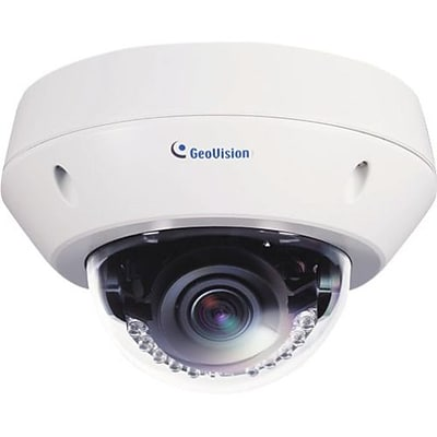 GeoVision GV-EVD2100 Target Wired Outdoor Vandal Proof IP Dome Network Camera; 9 mm Focal Length