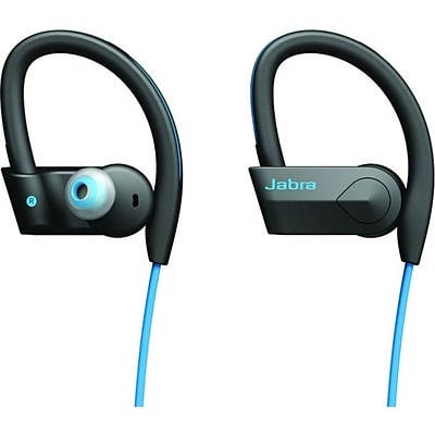 Jabra (1009770000202) SPORT PACE InEar Wireless Bluetooth Earset w/OnCable Microphone; Blue/Black