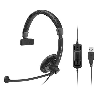 Sennheiser Culture Plus SC 40 USB MS Over-the-Head Headset; Black