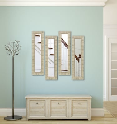 Rayne Mirrors Molly Dawn Tuscan Ivory Mirror Panels (set Of 4); 38.5'' H X 10.5'' W X 1.25''d