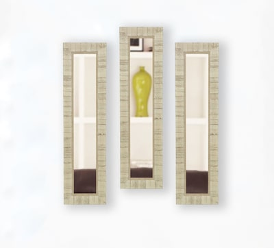 Rayne Mirrors Molly Dawn Tuscan Ivory Mirror Panels (set Of 3); 38.5'' H X 14.5'' W X 1.25'' D