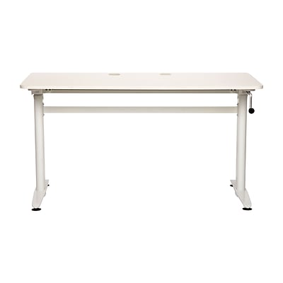 Cool Living Adjustable Aluminum Stand Up Desk, White