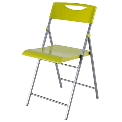 Alba Smile Folding Chair, 2 Pieces/Set, Green (CPSMILEV)