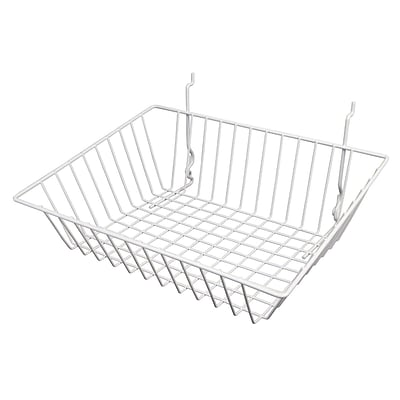 Econoco BSK16/W Sloping Basket, White, Semi-Gloss, 15 x 12 x 8, 6/Pack