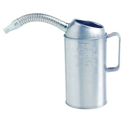 Plews™Galvanized Measures, 4 qt, Flexible Spout