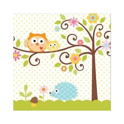 Creative Converting Happi Tree 3-Ply Luncheon Napkins, 16/Pack