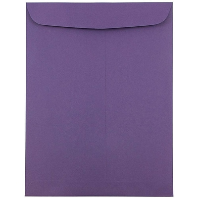JAM Paper® 9 x 12 Open End Catalog Envelopes, Dark Purple, 100/pack (51287430C)