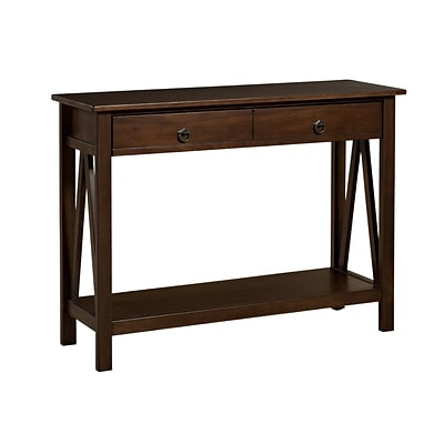 Linon Titian 30.71 x 44.01 x 13.98 Pine/Painted MDF Console Table; Antique Tobacco
