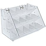 Azar® 12 Compartment 3 Step Counter/Pegboard/Slatwall Tray, Clear