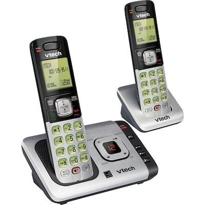 VTech® CS6729-2 DECT 6.0 Cordless Answering System, With 2 Handsets and Caller ID